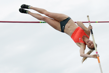 Alana Boyd wins the pole vault in Melbourne (Getty Images)