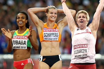 Genzebe Dibaba, Dafne Schippers and Anita Wlodarczyk (AFP / Getty Images)