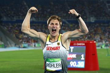 Thomas Rohler, winner of the javelin at the Rio 2016 Olympic Games (Getty Images)