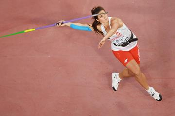 Maria Andrejczyk at the 2019 World Championships (Getty Images)
