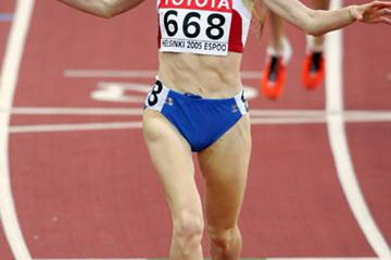 Tatyana Tomashova celebrates winning the women's 1500m (Getty Images)