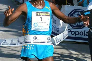 Robert Kipchumba wins the half marathon in Udine (Lorenzo Sampaolo)