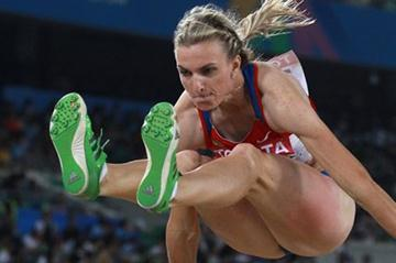 Olga Kucherenko leaping to silver in Daegu (Getty Images)