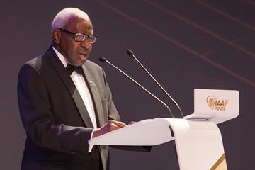 IAAF President Lamine Diack in Barcelona (Giancarlo Colombo)