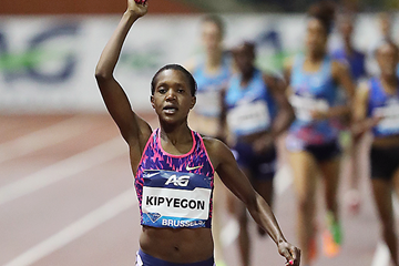 Faith Kipyegon wins the 1500m at the IAAF Diamond League final in Brussels (Giancarlo Colombo)
