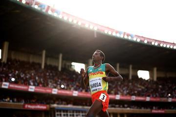 Selemon Barega wins the 3000m at the IAAF World U18 Championships Nairobi 2017 (Getty Images)