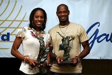 2006 World Athletes of the Year - Sanya Richards (USA) and Asafa Powell (JAM) (Getty Images)