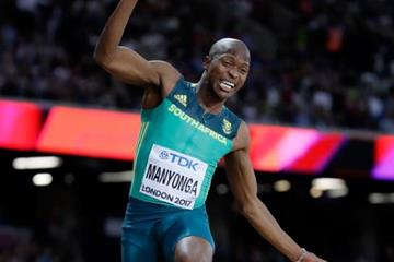 Luvo Manyonga at the IAAF World Championships London 2017 (Getty Images)