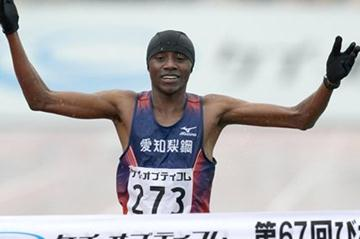 Impressive 2:07:04 debut for Samuel Ndungu at Lake Biwa (Yohei Kamiyama/Agence SHOT)