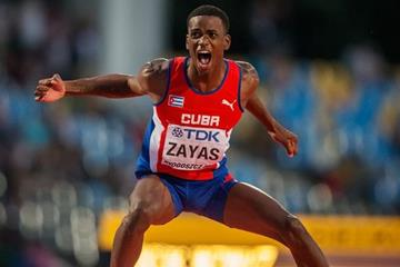 Luis Enrique Zayas wins the high jump at the IAAF World U20 Championships Bydgoszcz 2016 (Getty Images)