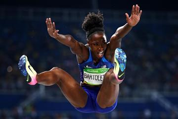 Tianna Bartoletta in the long jump at the Rio 2016 Olympic Games (Getty Images)