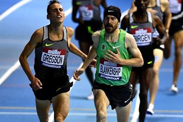 Ben Blankenship, the 1500m winner at the Muller Indoor Grand Prix in Birmingham (Getty Images)