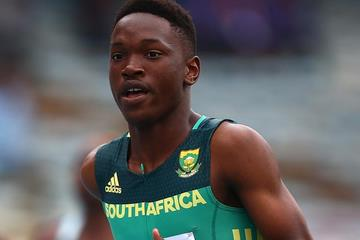 Tshenolo Lemao in the 200m at the IAAF World U18 Championships Nairobi 2017 (Getty Images)
