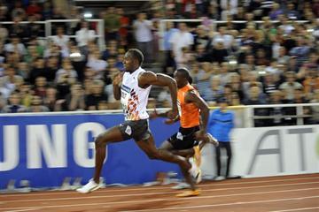 Usain Bolt races 200m in Stockholm - DN Galan (Hasse Sjogren / DECA Text&Bild)
