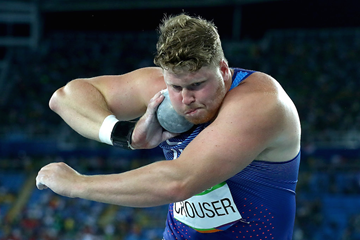 Olympic champion Ryan Crouser competes in the shot put in Rio (Getty Images)