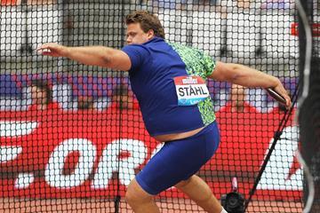 Daniel Stahl, the discus winner at the IAAF Diamond League meeting in London (Jean-Pierre Durand)
