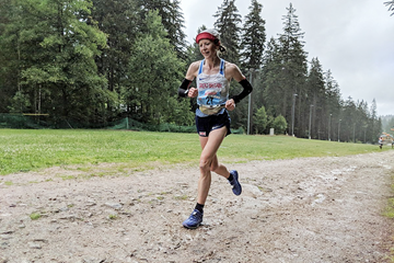 Charlotte Morgan in action at the WMRA Long Distance Mountain Running Championships (WMRA)