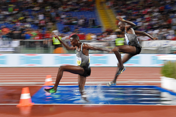 Conseslus Kipruto in the 3000m steeplechase at the IAAF Diamond League meeting in Rome (AFP / Getty Images)