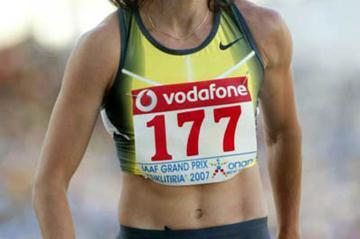 Tatyana Lebedeva clearly enjoying herself in Athens (Tsiklitiria organisers)
