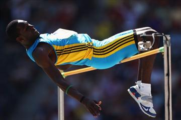 Donald Thomas of The Bahamas competes in the men's High Jump qualification at the IAAF World Championships (Getty Images)