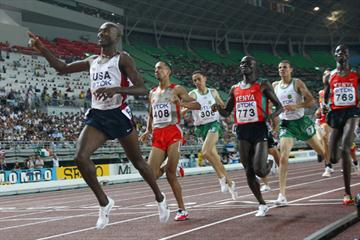Bernard Lagat wins the 1500m (Getty Images)
