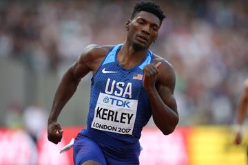 US 400m sprinter Fred Kerley in London (Getty Images)