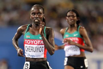 Vivian Cheruiyot of Kenya on her way to winning gold in the 10,000m final (Getty Images)