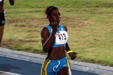 Rashan Brown (BAH) in the U17 girls 400m prelims - 2009 CARIFTA GAmes (Jed Charles)
