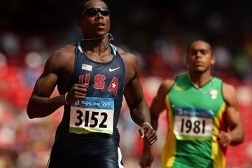 Defending 200m champion Shawn Crawford in the opening round (Getty Images)