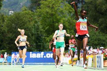 Cherono Koech wins the Girls' 800m final (Getty Images)