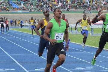 Yohan Blake anchors Racers Lion victory ahead of club mate Kemar Bailey-Cole (Racers) at the Gibson Relays (Anthony Foster)