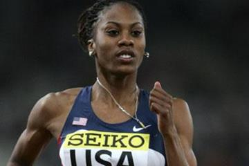 Sanya Richards en route to her 48.70 400m Area record at the 2006 World Athletics Final in Athens (Getty Images)