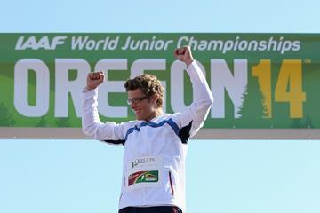 Axel Chapelle at the IAAF World Junior Championships, Oregon 2014 (Getty Images)