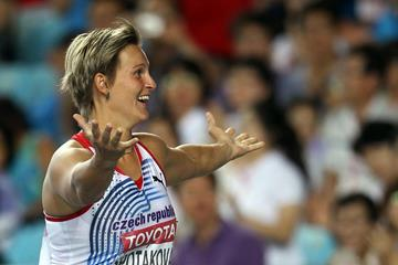 Barbora Spotakova in the javelin at the IAAF World Championships (Getty Images)