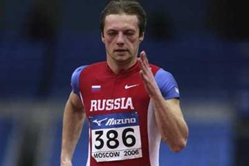 Andrey Yepishin of Russia in action in the men's 60m first round heats (Getty Images)