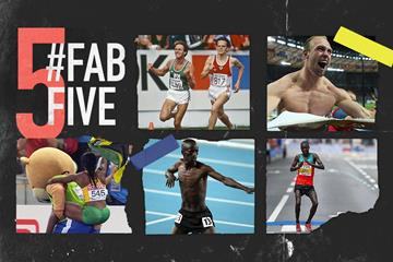 Fab five: celebrations at the World Championships (Getty Images)