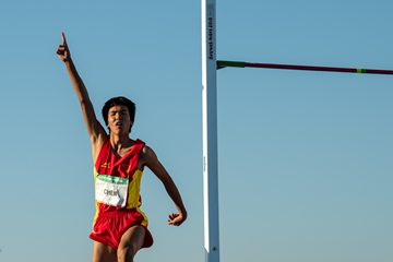 High jump winner Chen Long at the Buenos Aires 2018 Youth Olympics Games (OIS/IOC)
