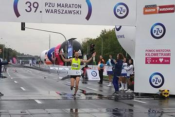 Blazej Brzezinski wins the PZU Warsaw Marathon (Organisers)