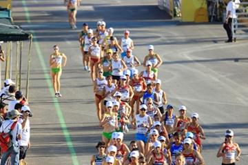 A general view of competitors in the women's 20km race in Chihuahua (Getty Images)