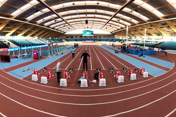 Polideportivo Municipal Gallur, venue of Madrid's IAAF World Indoor Tour meeting (IAAF)