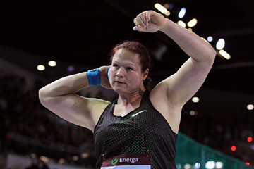 Christina Schwanitz, winner of the shot put at the IAAF World Indoor Tour meeting in Torun (Jean-Pierre Durand)