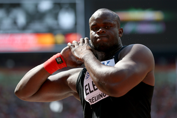 Franck Elemba in the shot put at the IAAF World Championships Beijing 2015 (Getty Images)