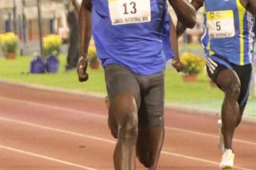 Usain Bolt en route to his 19.56 win in Kingston (trackalerts.com)