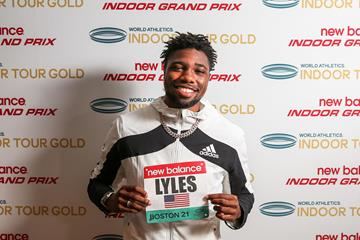 Noah Lyles ahead of the 2021 New Balance Indoor Grand Prix (Organisers)