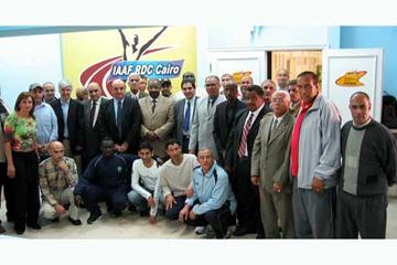 Dr. Soliman Hagar seen at a Basic Competition Organising Seminar at the Cairo RDC in 2006 - to his right: Bill Glad; to his left Elio Locatelli, Dahlan Al-Hamad, Hamdi Abdel--Rahim (IAAF)