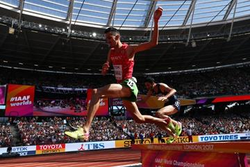 Soufiane El Bakkali in the 3000m steeplechase at the IAAF World Championships London 2017 (Getty Images)