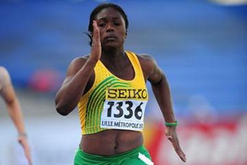 Christania Williams of Jamaica in action during the girls 100m qualification during day one - WYC Lille  2011 (Getty Images)