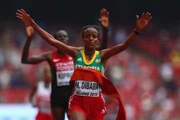 Mare Dibaba wins the marathon at the IAAF World Chamionships Beijing 2015 (Getty Images)