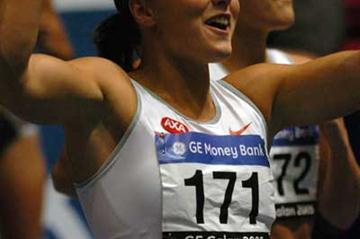 Susanna Kallur after her 60m Hurdles win in Stockholm (Hasse Sjögren)