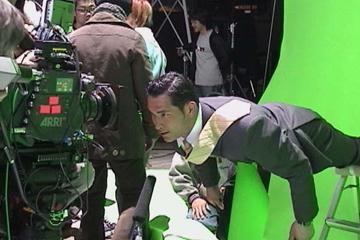Koji Murofushi shooting a TV commercial in Japan (Courtesy of Koji Murofushi)